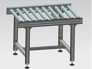 铝型材滚筒线3D模型