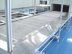 不锈钢钢网式平板输送线系统