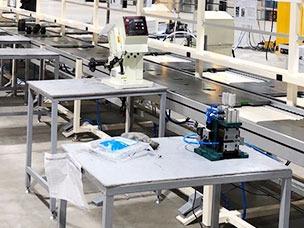 电子厂装配流水线结构