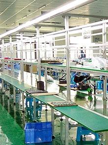 电子厂装配流水线