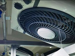 LED组装流水线风扇